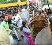 abvp secretariat march at thiruvananthapuram pics 200