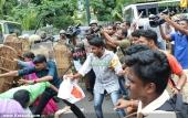 abvp secretariat march at thiruvananthapuram stills 512