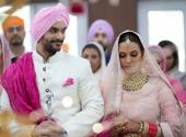 actress neha dhupia marriage photos