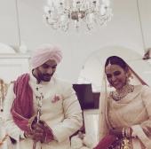 neha dhupia wedding pictures 1