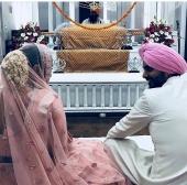 neha dhupia wedding pictures