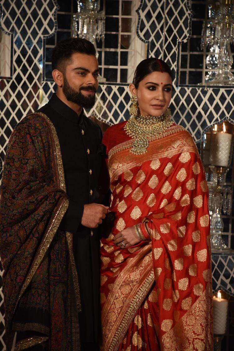 anushka sharma virat kohli wedding reception photos 01