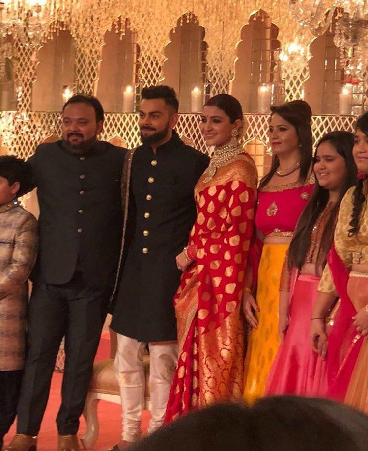 anushka sharma virat kohli wedding reception photos