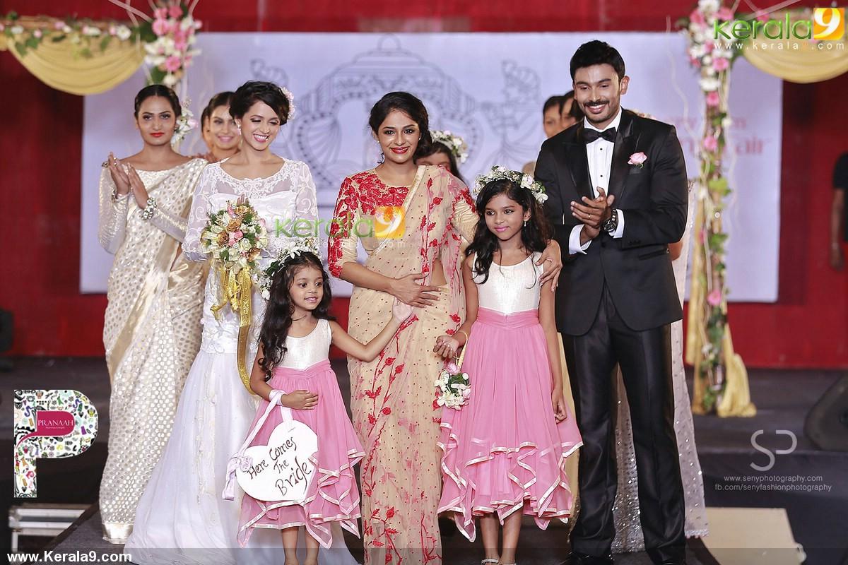 bhavana walks for poornima indrajith show at m4marry bridal fashion ...