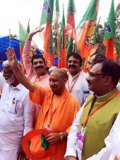 yogi adityanath in kerala bjp janaraksha yatra photos
