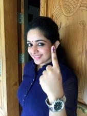 kavya madhavan at kerala election 2016 photos