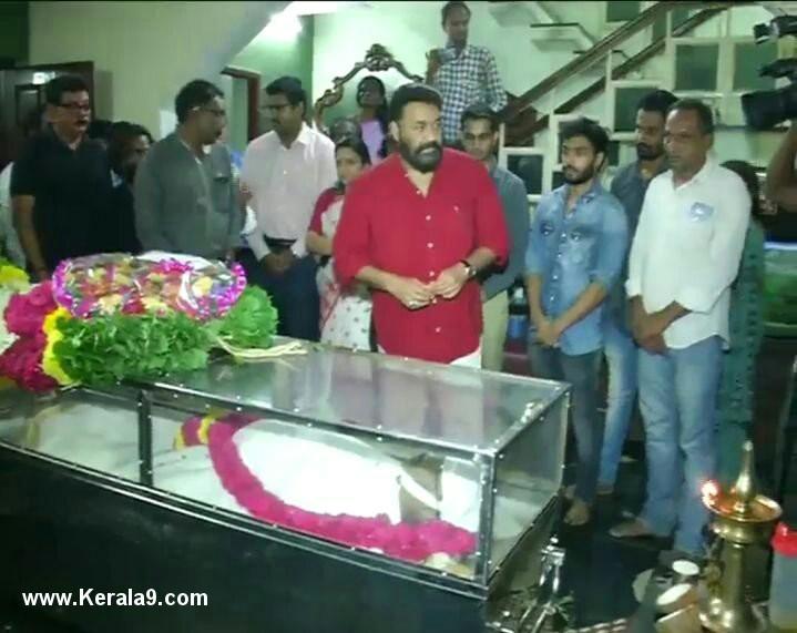 mohanlal at iv sasi funeral photos 001