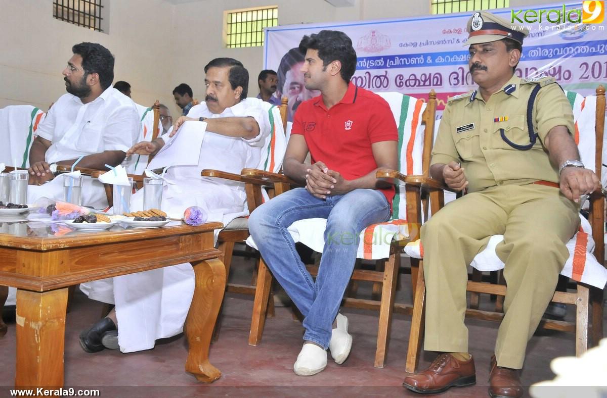 dulquar salman at poojappura central jail photos 100 043
