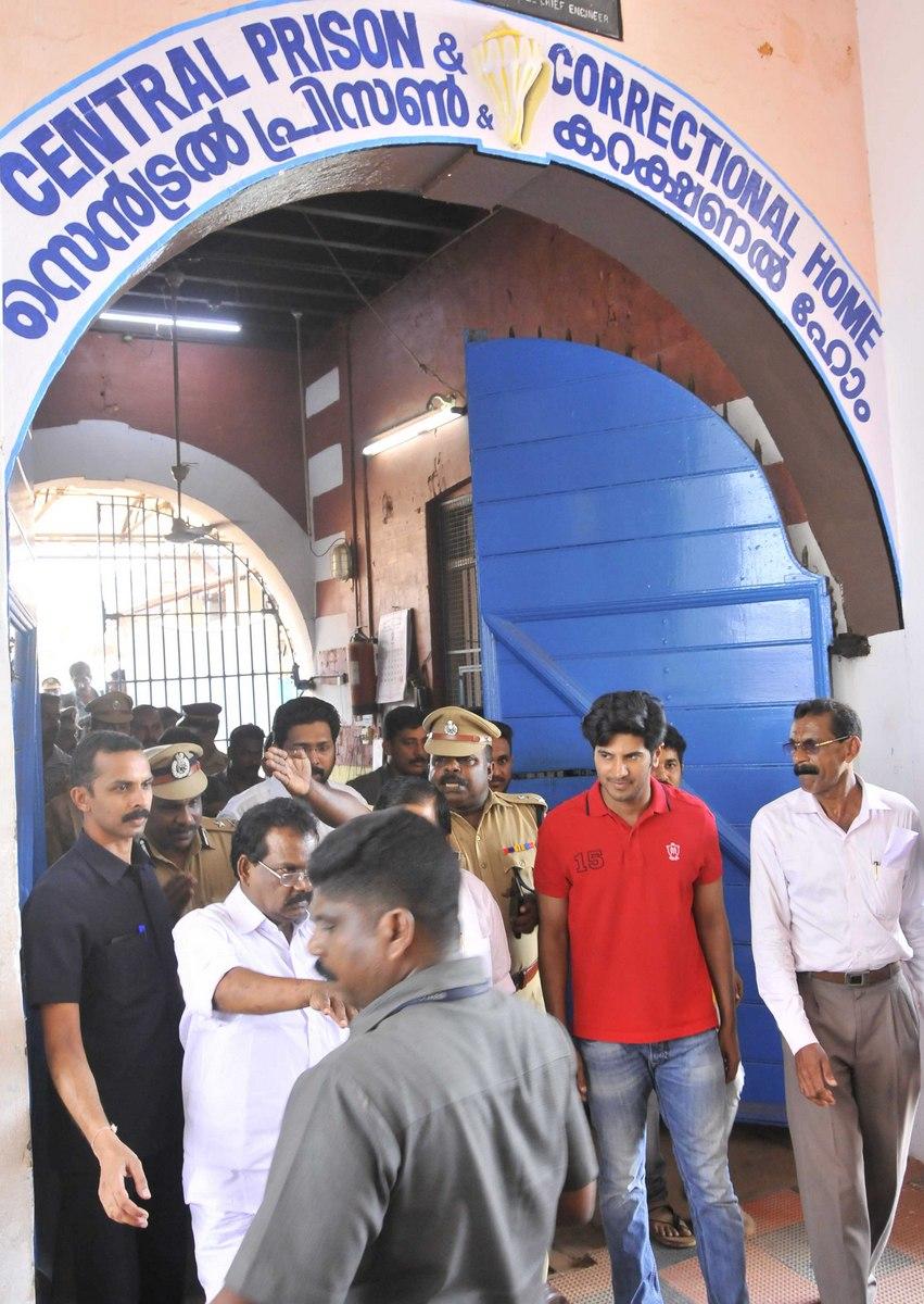dulquar salman at poojappura central jail pics 200 011
