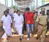 dulquar salman at poojappura central jail photos 100 008
