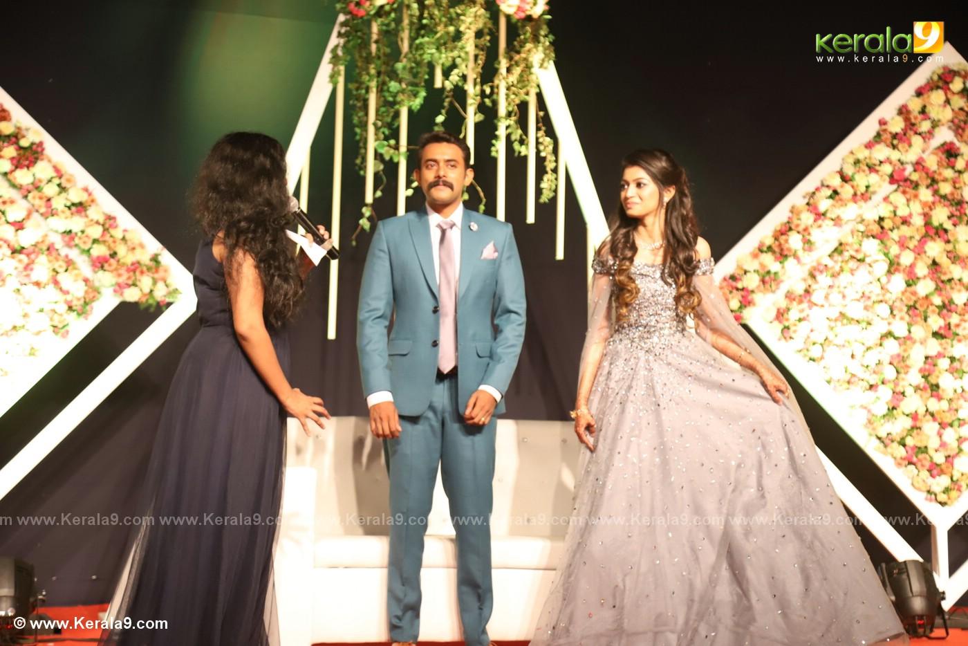 harisree ashokan son wedding reception photos 39