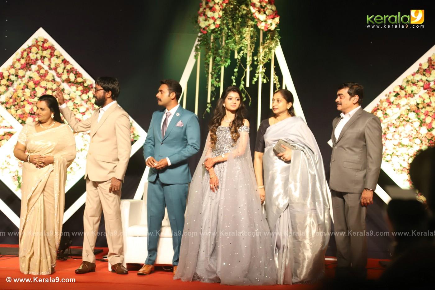 harisree ashokan son wedding reception photos 43