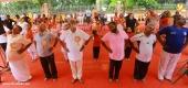 kummanam rajasekharan and o rajagopal at  international yoga day 2018 celebration photos 11