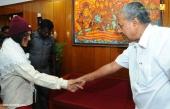 irom sharmila visit chief minister pinarayi vijayan stills 653