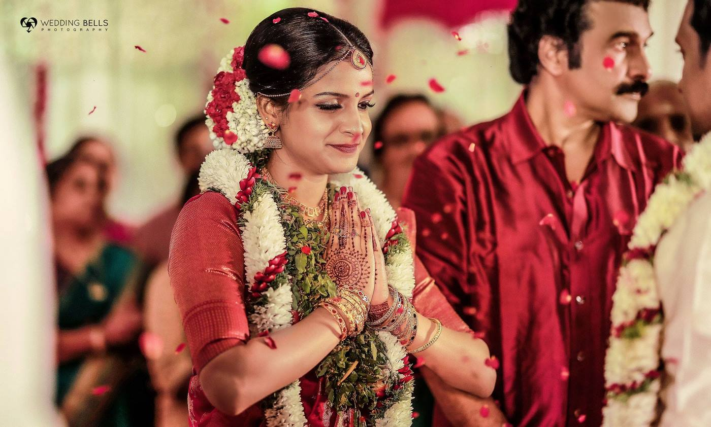 jayaraj warrier daughter indulekha marriage photos 2