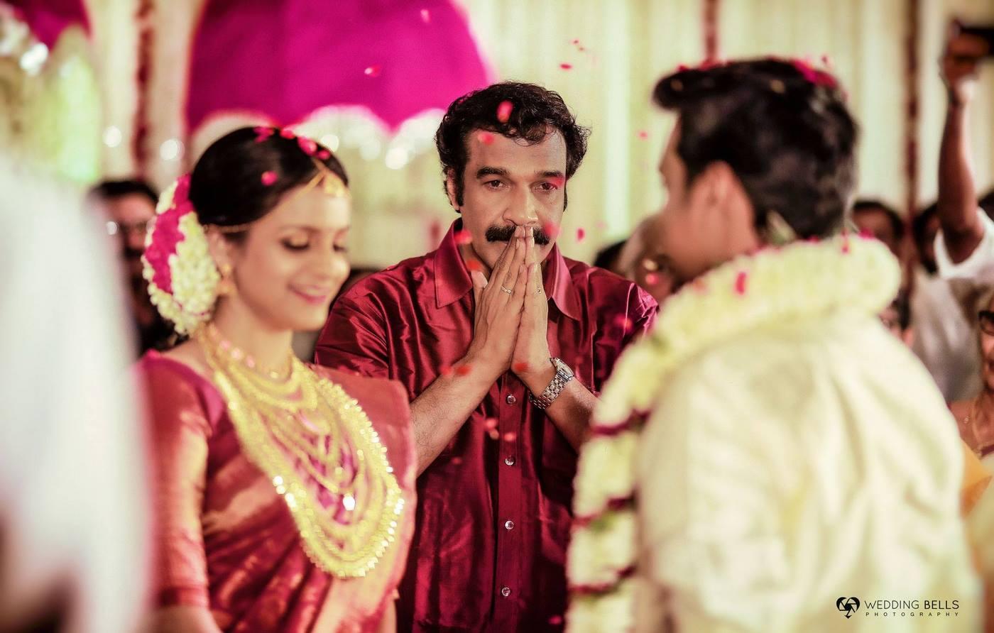 jayaraj warrier daughter indulekha wedding photos  1