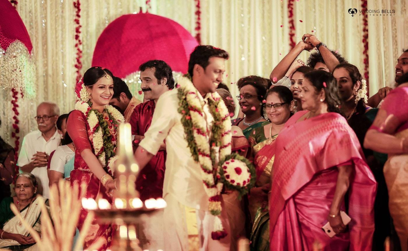 jayaraj warrier daughter wedding photos