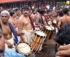 983jayaram panchari melam performance at shri poornathrayeesha temple photos