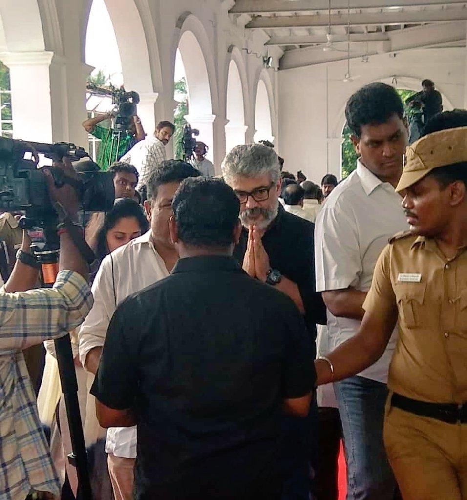 actor ajith at karunanidhi funeral photos 0823 2