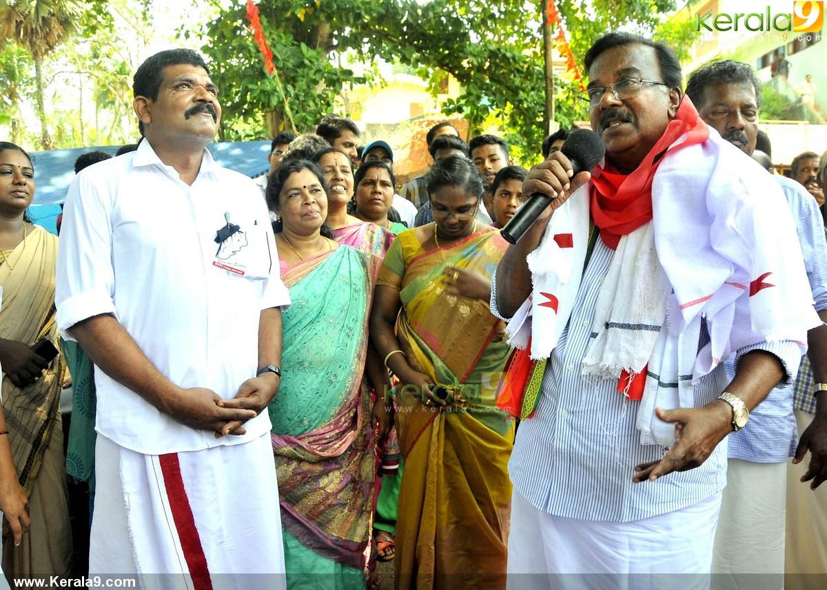 c divakaran at ldf election campaign stills 500 003