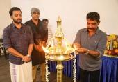 prithviraj sukumaran at lucifer malayalam movie pooja photos