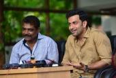 prithviraj at lucifer malayalam movie press meet photos 149