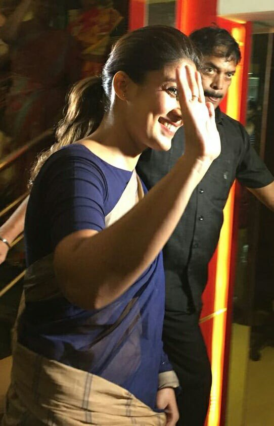 nayanthara visit theatres for aramm promotions photos 015
