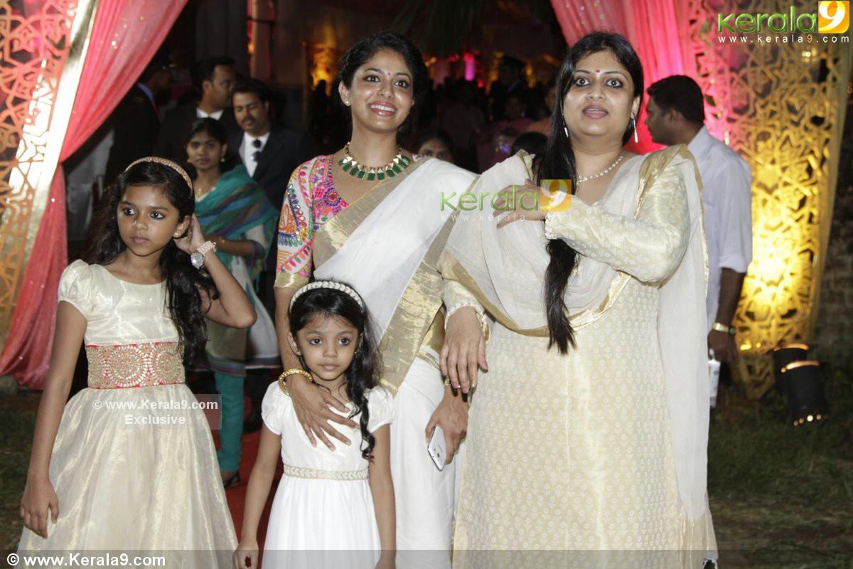 Poornima Indrajith At Fahad Fazil Nazriya Nazim Wedding Reception