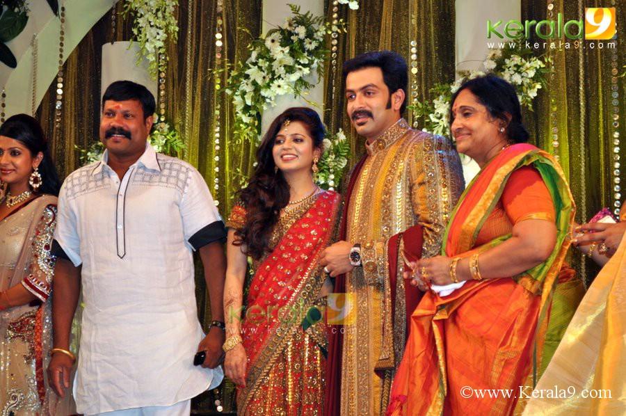 ... prithviraj marriage reception prithviraj supriya indrajith poornima