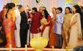 pinarayi vijayan at sabarinath mla divya iyer marriage photos