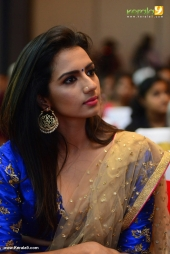 sruthi hariharan at solo malayalam movie audio launch photos 119