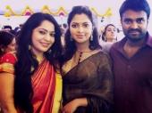 amala paul at trisha krishnan engagement photos