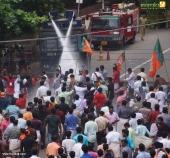 yuva morcha youth congress secretariat march at thiruvananthapuram pictures 333 005