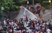 yuva morcha youth congress secretariat march at thiruvananthapuram pictures 333 006
