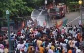 yuva morcha youth congress secretariat march at thiruvananthapuram stills 258