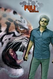 puli tamil movie first look poste
