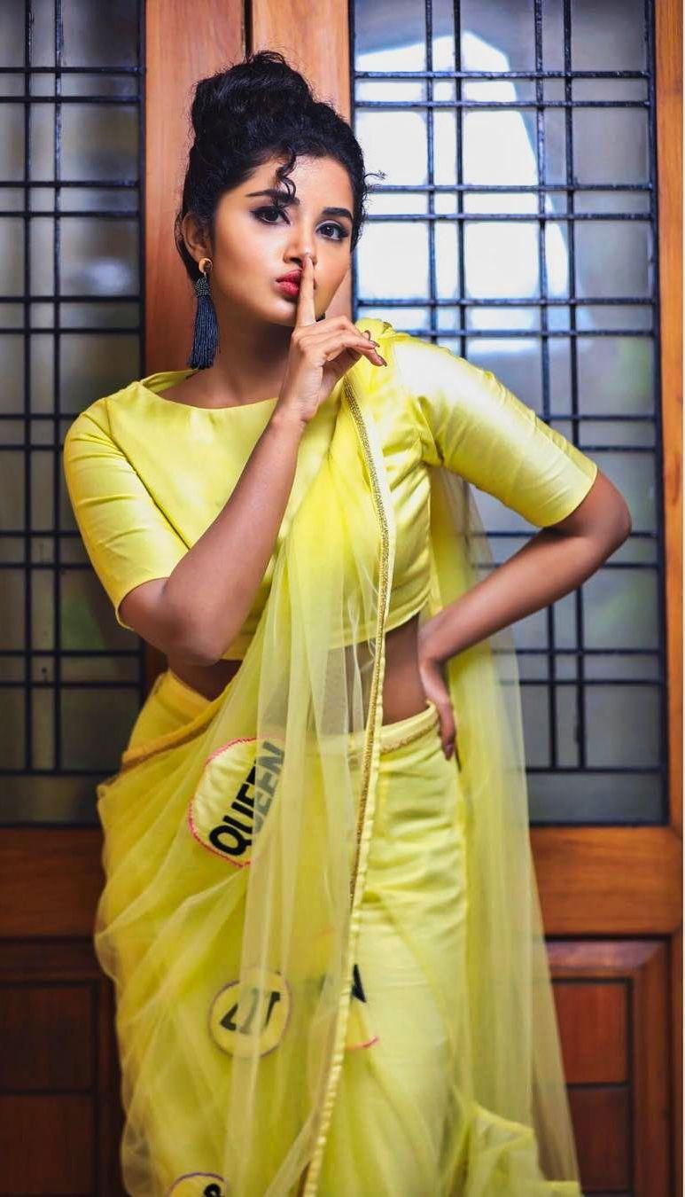 anupama parameswaran latest saree photos-001