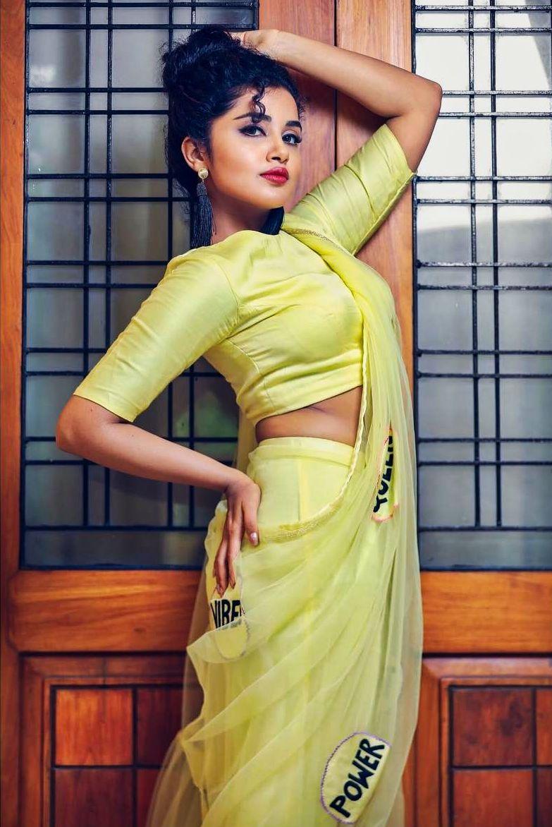 anupama parameswaran latest saree photos