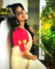 anupama parameswaran kerala saree latest photos-003