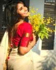 anupama parameswaran kerala saree latest photos-005