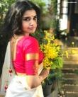 anupama parameswaran kerala saree latest photos