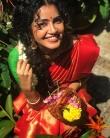anupama parameswaran new onam saree photos-004