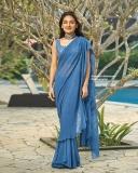 esther-anil-new-photos-in-blue-saree-001
