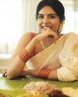 actress kalyani priyadarshan new onam kerala saree photos-005