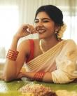 actress kalyani priyadarshan new onam kerala saree photos-006
