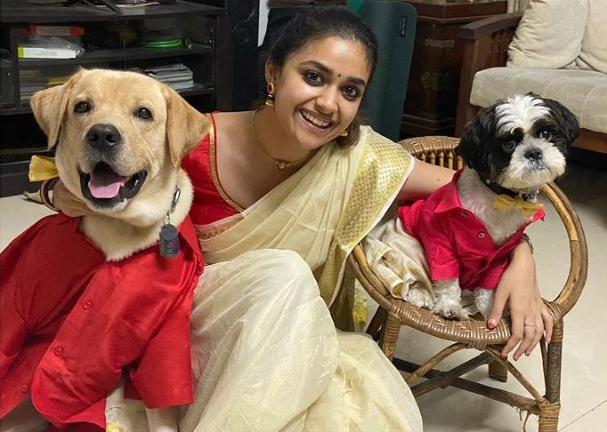 keerthi suresh kerala onam saree photos