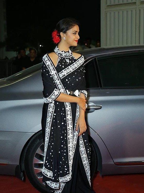 keerthi suresh latest saree photos -003