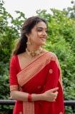 keerthi-suresh-red-saree-photos-001