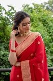 keerthi-suresh-red-saree-photos