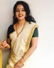 Malavika Menon in kerala saree photos2341-3